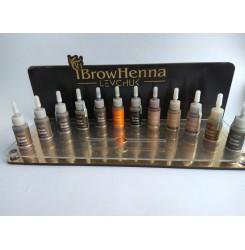 Дисплей-подставка для набора Бров Хенна BH BROW HENNA, под 12 флаконов