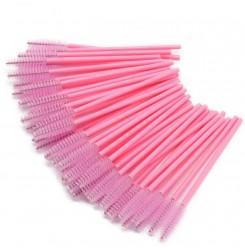 Щеточки для бровей и ресниц / ворсистая розовая бледная (однотонная)