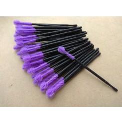 Расческа для расчесывания ресниц и бровей / щеточки силиконовые фиолет 6 шт = 15 грн