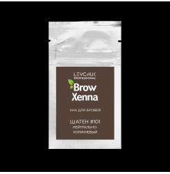 Хна для бровей BrowXenna Шатен 101 (нейтральный коричневый)  / саше