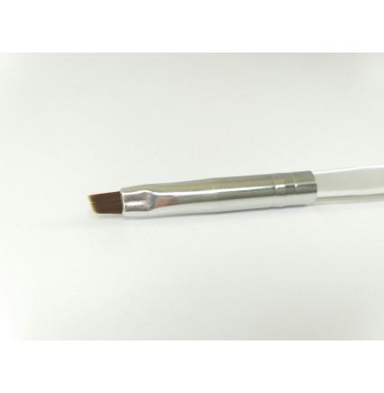 Кисточка скошенная , прозрачная ручка 01