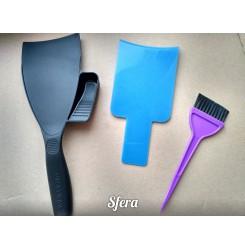 Лопатка для окрашивания шатуш, балаяж, борун с емкостью для краски, порошка
