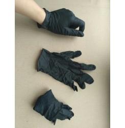 Перчатки нитриловые черные , размер S (пара, 2 шт)