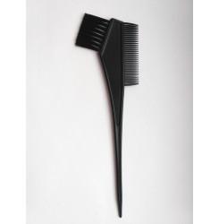 Кисточка для покраски волос с расческой (черная)