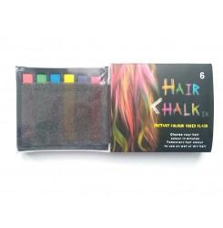 Цветные мелки для волос Hair Chalk (набор из 6 штук)