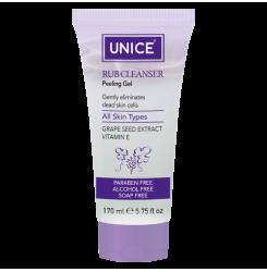 Пилинг-гель с экстрактом виноградных косточек Unice Cleanser Peeling Gel, 170 мл / фиолет