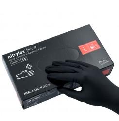 Перчатки нитриловые Nitrylex черные,100 шт. в упаковке, размер L