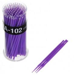 Микробраш 100 шт. в тубусе фиолетовый (Ultrafine) S