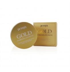 Патчи гидрогелевые для глаз с золотым комплексом +5 Petitfee Gold