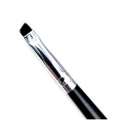 Кисть скошенная короткая MILEO №1 (черный ворс / черная ручка)