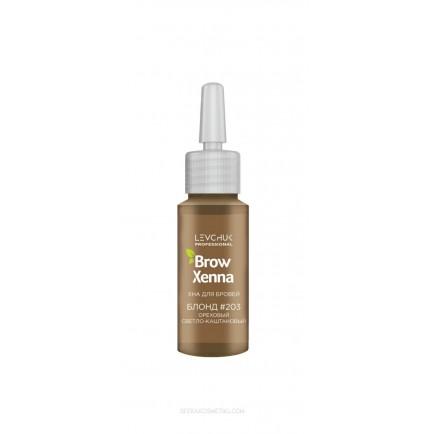 Хна для бровей BrowXenna Блонд 203 (ореховый светло-каштановый) / флакон