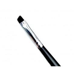 Кисть скошенная MILEO №2 (черный ворс / черная ручка)