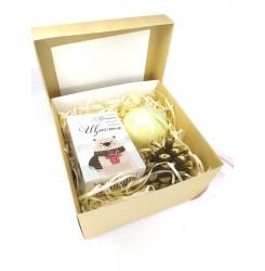 Набор подарочный (Мыло с высказыванием Мишка + бомбочка) soap stories BOX #3