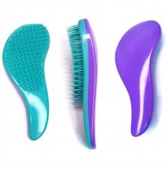 Расческа для волос Tangle teezer / фиолетово-мятная