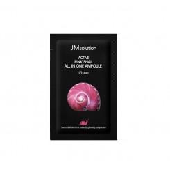 Сыворотка с экстрактом розовой улитки JMsolution Active Pink Snail All In One Ampoule Prime / саше