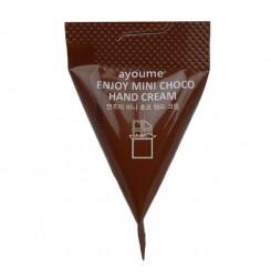 Крем для рук с ароматом шоколада Ayoume Enjoy Mini Choco Hand Cream, 3 г (коричневый треугольник)