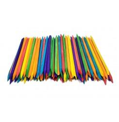 Апельсиновые палочки 100 шт в упаковке ЦВЕТНЫЕ / 11 см
