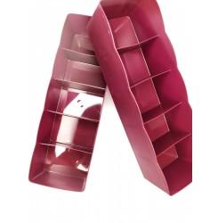 Органайзер пластиковый для хранения, 5 отделений / мини бордо