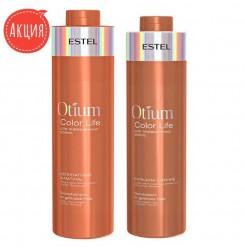 Шампунь и бальзам Estel Otium Color Life 1000 мл (набор)