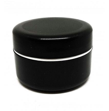 Баночка косметическая с закруткой для хранения / черная, 50 мл