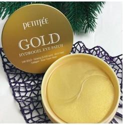 Гидрогелевые патчи для глаз с золотым комплексом +5 Petitfee Gold