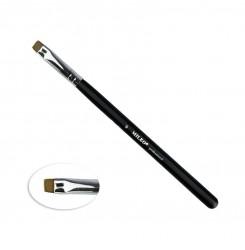 Кисть Mileo 9 ПРЯМАЯ  (черная ручка / коричневый ворс)