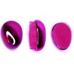 Расческа для волос маленькая овальная / малиновая