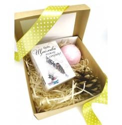 Набор подарочный (Мыло с высказыванием Девушка + бомбочка) soap stories BOX #5