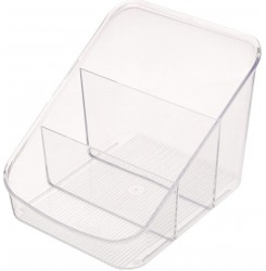 Контейнер пластиковый на 3 секции / Каскад прозрачный