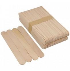 Шпатель деревянный широкий для депиляции плотный , 100 шт в уп (19 мм)