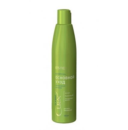 """Шампунь """"Увлажнение и питание"""" для всех типов волос Estel Curex Classic, 300 мл (маленький зелёный)"""
