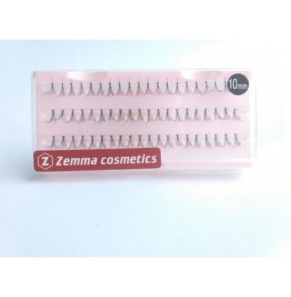 Пучковые ресницы, стандарт длина 10 мм
