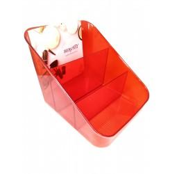 Контейнер пластиковый на 3 секции / Каскад красный