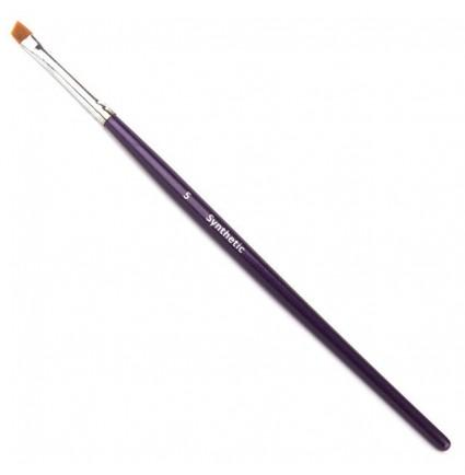 Кисть для бровей скошенная синтетика Synthetic 5 CREATOR синяя ручка