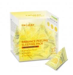 Маска ночная отшелушивающая Trimay Radiance Peeling Sleeping Pack / треугольник (желтая), 3 г