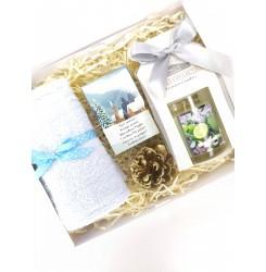 Набор подарочный (Мыло с высказыванием + свеча в стаканчике + полотенце) soap stories BOX #7