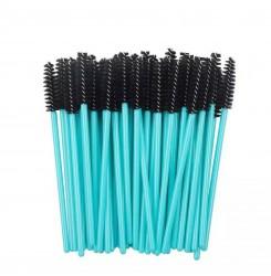 Щеточки для бровей и ресниц / голубая ручка - черный ворс