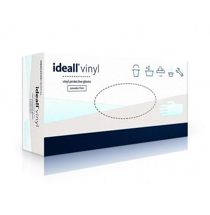 Перчатки виниловые Vinylex 100 шт в упаковке, размер М / прозрачные