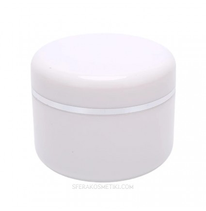 Баночка косметическая с закруткой для хранения / белая, 30 мл