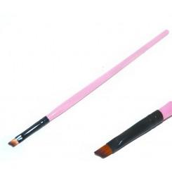 Кисточка скошенная , розовая ручка