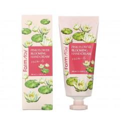 Крем для рук FarmStay Pink Flower Blooming Hand Cream Water Lily, 100 мл (экстракт лилии)
