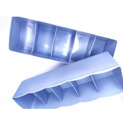 Органайзер пластиковый для хранения, 5 отделений / мини голубой