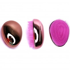 Расческа для волос маленькая овальная / бронзово-розовая