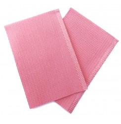Нагрудник (непромокаемые стоматологические салфетки) 25 шт в упаковке - розовый