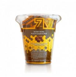 Скраб с экстрактом меда MAY ISLAND 7 Days Secret Royal Black Sugar Scrub / треугольник, 3 г