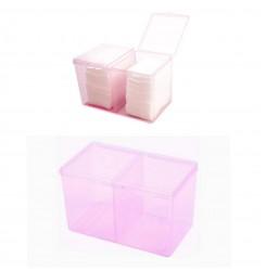 Контейнер прямоугольный пластмассовый на два отделения / фиолетовый или розовый