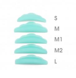 Бигуди силиконовые (S+M+M1+M2+L) бирюзовый набор 5 пар