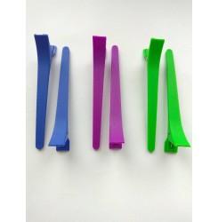 Зажимы для волос матовые прямые микс, 11,5 см