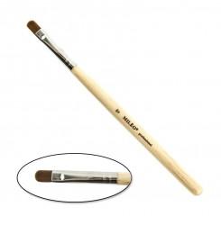 Кисть MILEO № 8 деревянная ручка (язычковая широкая)