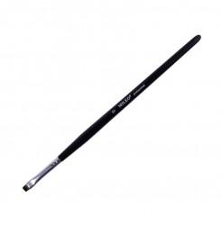 Кисть Mileo 6 ПРЯМАЯ  (черная ручка / коричневый ворс)